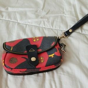 Dooney & Bourke dog print wristlet